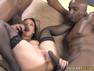 Big tits getting fucked ally style anal and double penetration with black dick dogfartnetwork a