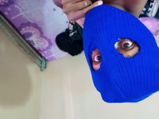 Masked Upside Down Pervert Moans And Orgasms Hard