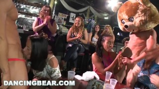 DANCING BEAR Real Women, Real Horny, Sucking Big Dicks in a CFNM Party