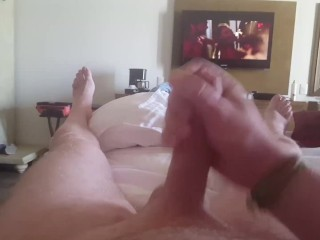 Watching Porn and Shooting My Load Like A Volcano!