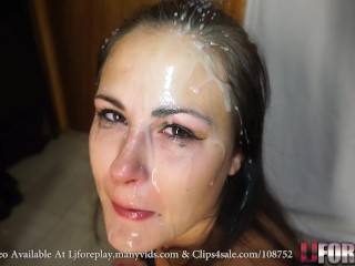 Sucking With A Face Covered In Cum - LJFOREPLAY