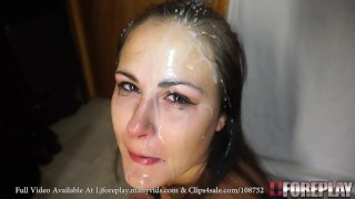Sucking With A Face Covered In Cum LJFOREPLAY