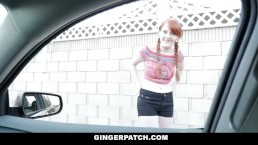 GingerPatch - Pigtailed Redhead Pounded By Huge Cock