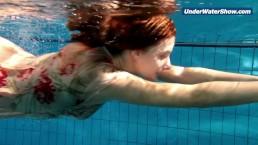 Slowmo teen in Czech swimming