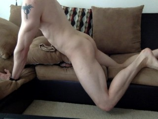 Guy fucks rubber pussy like a missionary
