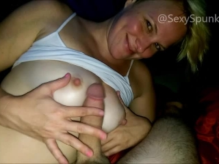 Preview 2 of Blow Job and Riding Cowgirl Facial in Our First Camping Tent New Mexico