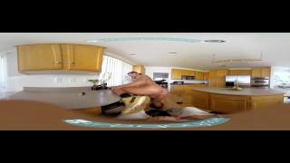 Gay VR PORN - Ebony twink Micha stroking his big black cock Tugging big