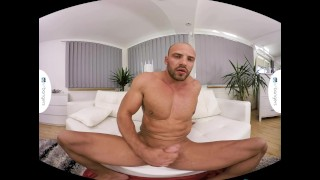 Gay VR PORN - Bald sexy Thomas Masturbates in the shower Popper poppers