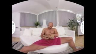 Gay VR PORN - Bald sexy Thomas Masturbates in the shower Virtual fuck