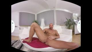 Gay VR PORN - Bald sexy Thomas Masturbates in the shower porno