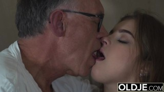 Preview 6 of Sweet Teen Fucked By Old man She Swallows cum and deepthroats cock