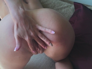 Stepsister Fucked After College. Fast Fuck & Cum On Back. Big Ksenia's Ass