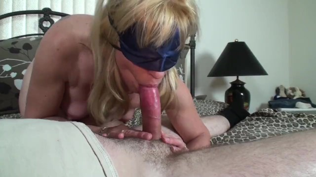 Blonde MILF gives A Blindfolded Birthday Blow-Job to A Young Pornhub Member - Pornhub.com