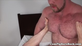Hairy stud assfucked by bears fat dong Big chub