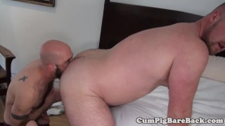 Hairy stud assfucked by bears fat dong Daddy strap
