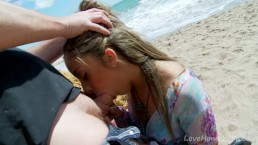 Blonde Cancels Sightseeing, Prefers Sucking Hard Cock