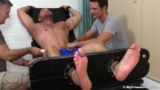 Studs knowles restrained kinky julian tickled is and two by muscle myfriendsfeet
