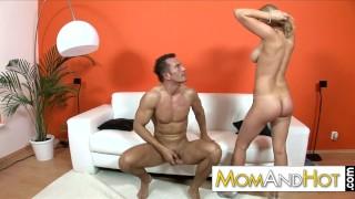 MILF Tammy gets cumshot over her natural tits
