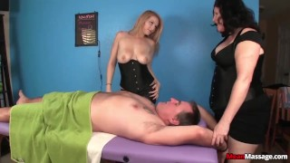 Tag-team domination massage Rawvidz braces