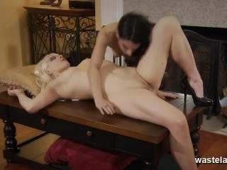 Blonde Femdom Eaten By Pretty Teen Submissive