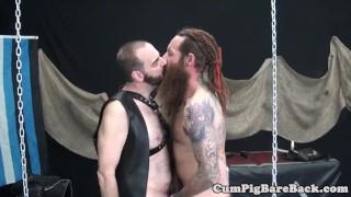 Dominant slave assfucking his mature bear gay ink