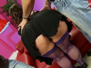 Big Booty OLGA CABEAVA Takes Two Huge Cocks At Sex Store