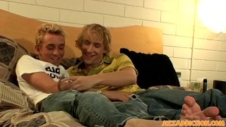 Blond twinks Casey Wood and Hoyt Jaeger are horny for anal
