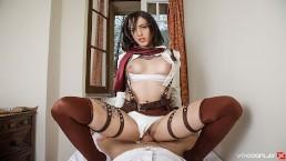 VRCosplayX.com Lilyan Red As Mikasa Attacks Your Titanic Dick