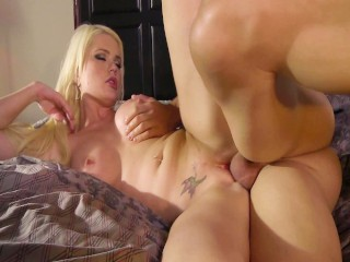 Big Titty Blonde Alexis Ford Takes Pussy Pounding & Sucks Cock