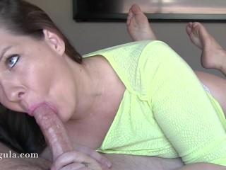 Cumming Twice - Sensual Bj Followed By Quickie Handjob - Huge Cumshots