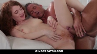 GingerPatch - Skinny Redhead Gets Fucked While Playing Jodi hardcore