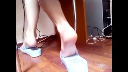 Sexy Feet playing under table