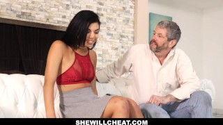 SheWillCheat- Gina Valentina Fucks BBC While Husband Watches  gina valentina bbc cheating brazilian cuckold wife cumshot metromoney hispanic smalltits interracial brunette petite latina shewillcheat latin