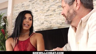 SheWillCheat- Gina Valentina Fucks BBC While Husband Watches  gina valentina bbc cheating brazilian cuckold wife cumshot hispanic smalltits interracial brunette petite latina latin shewillcheat metromoney