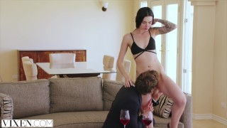 Art young curator hot vixen fucks collector reality cowgirl