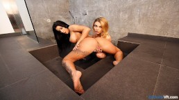 BaDoinkVR.com Squirting Lesbian Latina Teens Enjoy Sex Under The Shower