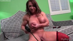 Naked Female Bodybuilder Brandimae Pumps Her Big Clit