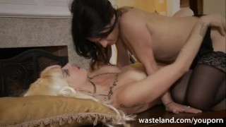 Tattooed Lesbian Femdom With Toys Cougar wet