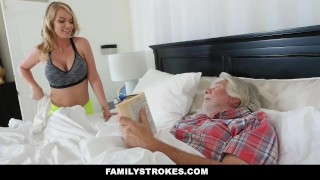 FamilyStrokes - Horny Housewife Fucks Stepson While Husband Sleeps Panties black