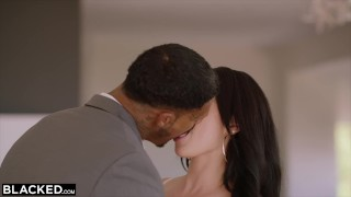 BLACKED Brunette loves rough bbc Kissing massive
