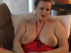 Mature orgasm by the fireplace