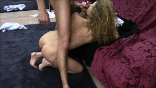 Hotwife talks about husbands best friend while he fucks her Sex cum