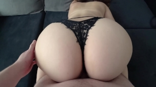 Young with big ass in black panties fucked porno