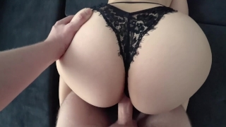 Young with big ass in black panties fucked Babe young
