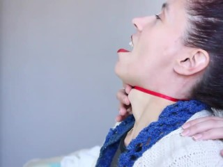 Huge Female Adams Apple Play