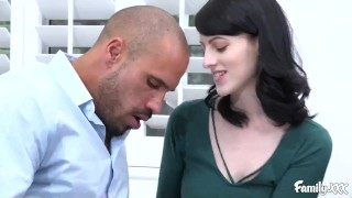 Off shows stepfather harper alex her skills to her stepdad eating
