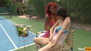 Horny Lesbian Sisters 03 - Scene 3  asian babe kimberly chi face sitting outside small emo cunnilingus punk fisting petite fingering natural tits tennis court trimmed pussy muff diving shaved pussy