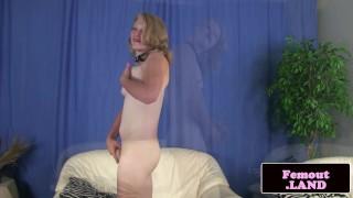 Preview 5 of Redneck femboy in heels jerking her dong