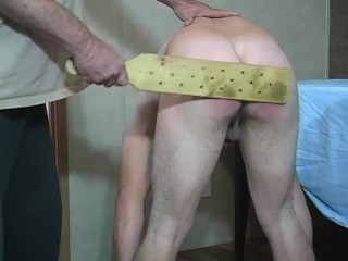 straight twink gets real spanking then jacks off