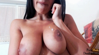 Orgasmic hot brunette fuck her holes and make big squirt orgasm! Teenievideo.com brunette